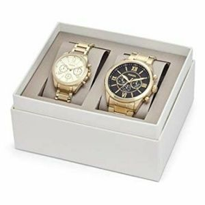 Fossil Flynn Couple Set For Her and Him Gold Watch